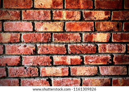 Red brick wall background, with brick texture. #1161309826
