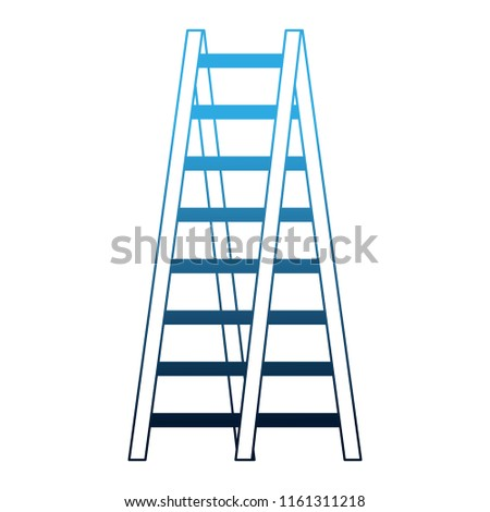 double ladder equipment tool icon #1161311218