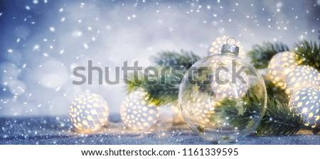 Christmas and New Year holidays background, winter season.  Royalty-Free Stock Photo #1161339595