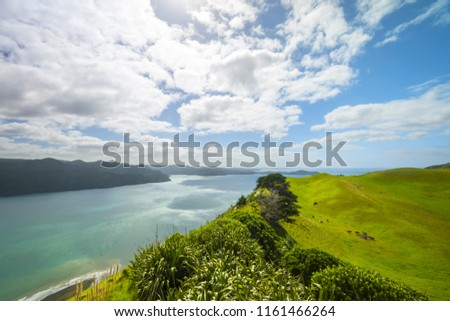 Landscape View to Manukau Harbour from Manukau Heads; Awhitu, Auckland New Zealand #1161466264
