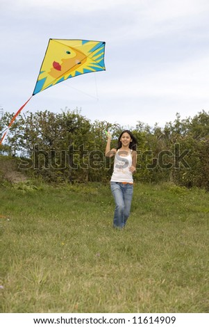 Teenager with kite #11614909