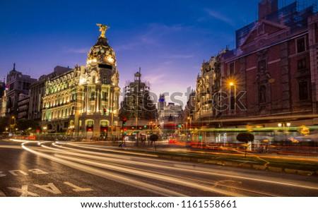 Madrid, Gran via street #1161558661