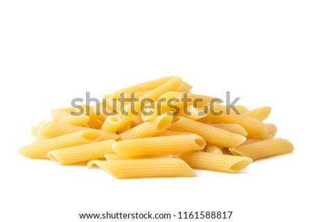 raw pasta isolated on white #1161588817