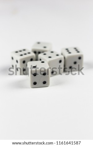 Dices on the white background #1161641587