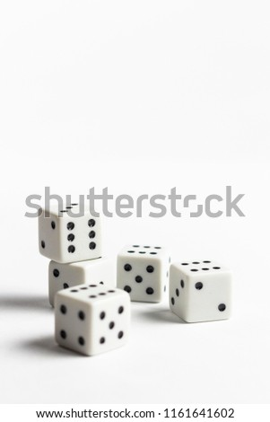 Dices on the white background #1161641602