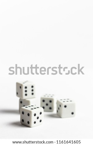 Dices on the white background #1161641605