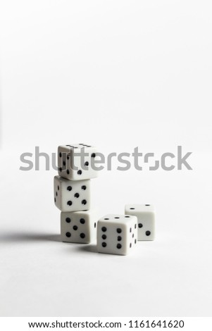 Dices on the white background #1161641620