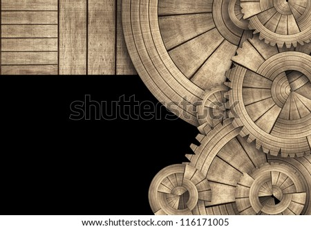Round Wooden Gears and Boards Template #116171005