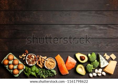 Keto diet food ingredients #1161798622