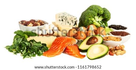 Keto diet food ingredients Royalty-Free Stock Photo #1161798652