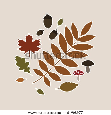 Silhouette Leaves Stickers #1161908977