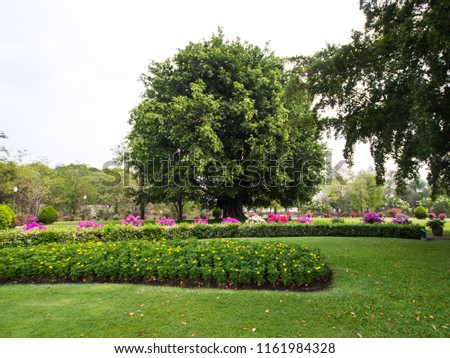 Beautiful View of Royal Park in Thailand #1161984328