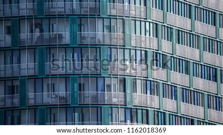 tower city building facade office #1162018369