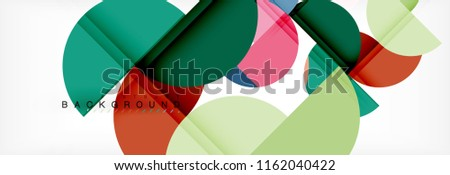 Semi circle abstract background, modern geometric pattern design. Vector business or technology presentation design template, brochure or flyer pattern, or geometric web banner #1162040422