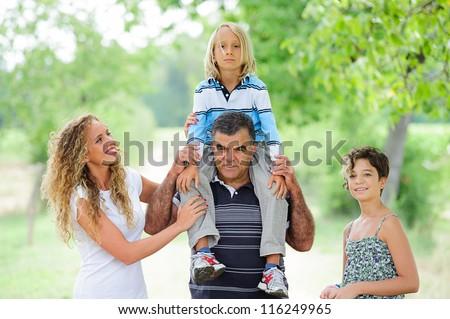 Happy Three Generations Family Outdoor,Italy #116249965