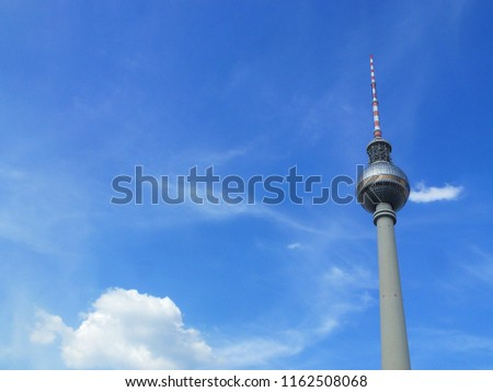 fernsehturm television tower at alexanderplatz alex berlin germany #1162508068