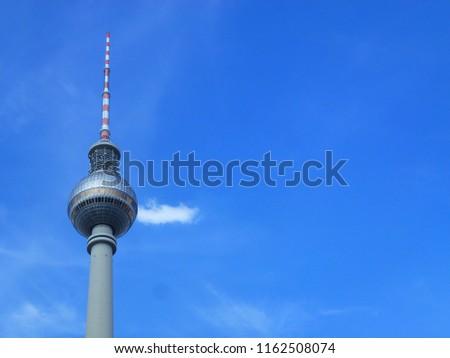 fernsehturm television tower at alexanderplatz alex berlin germany #1162508074