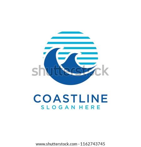 Wave logo design #1162743745