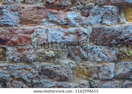 Background of red brick wall pattern texture. #1162998655
