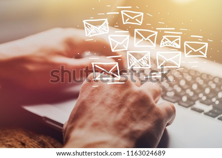 Email marketing and newsletter concept #1163024689