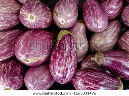 eggplants are fresh from the garden #1163031496