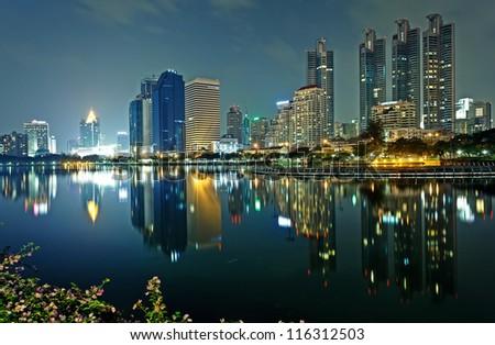 Bangkok, capital city of Thailand at evening #116312503