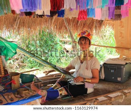 May 11, 2011, Pattaya, Thailand Padaung women #1163129974