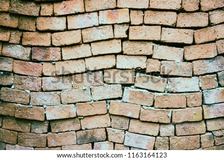 The brick wall is distorted. #1163164123