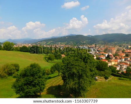 Bergamo city and it surroundings, Lombardia, Italy #1163307739