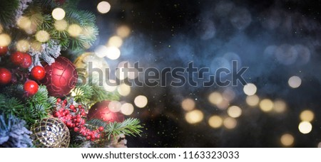 Christmas holidays background with copy space for your text #1163323033
