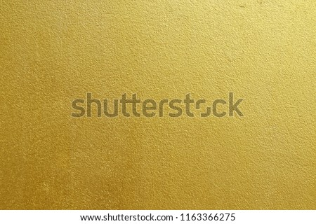 Gold concrete wall on background texture. #1163366275