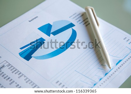 Business documents with pen #116339365