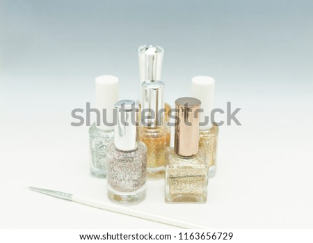 manicure bottles & brushes  #1163656729