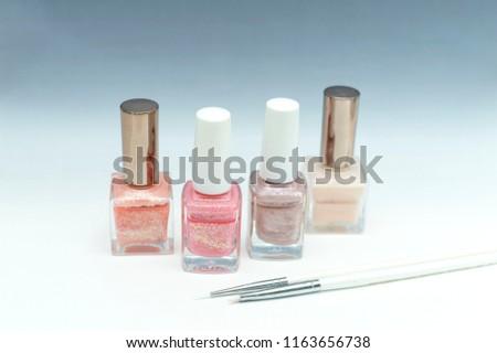 manicure bottles & brushes  #1163656738