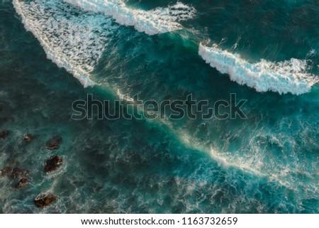 Top view of the raging ocean in Bali #1163732659