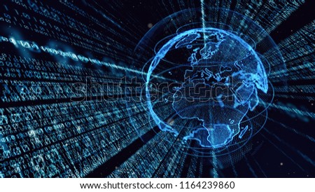 Digital binary code concept. #1164239860