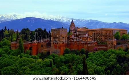 Alhambra, Granada, Spain #1164490645