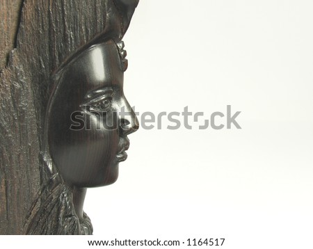 black  woman's profile made of wood #1164517