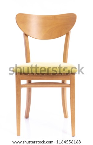 Wooden comfortable chair  on white background isolated #1164556168