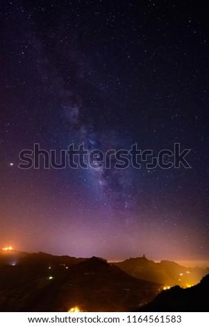 Milky Way above Gran Canaria #1164561583