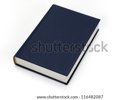 blue textbook closed isolated on white background Royalty-Free Stock Photo #116482087