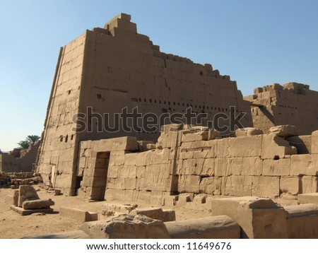 Ancient ruins in Karnak temple from Luxor #11649676