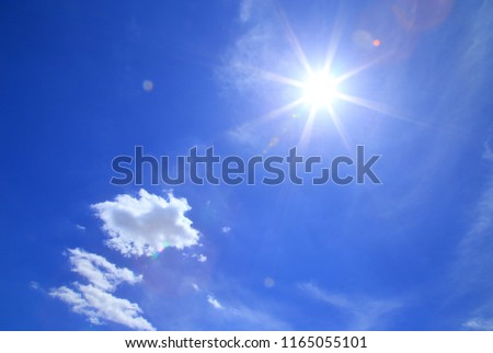 Sun shining on blue sky #1165055101