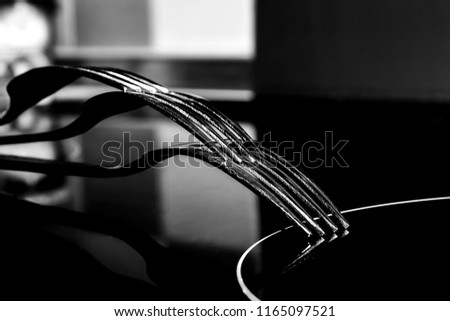 cutlery in black and white #1165097521