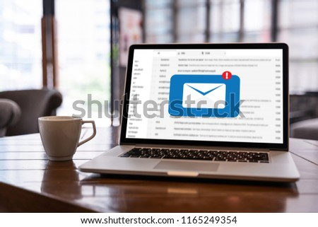 Mail Communication Connection message to mailing contacts phone Global Letters Concept #1165249354