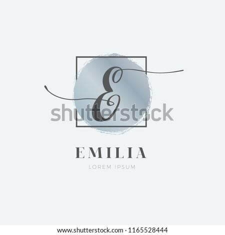Simple Elegant Initial Letter E Logo Type Sign Symbol Icon Royalty-Free Stock Photo #1165528444