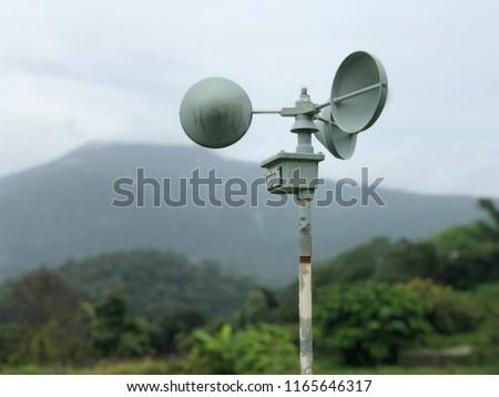 Background: Anemometer : Wind Speed Meter #1165646317