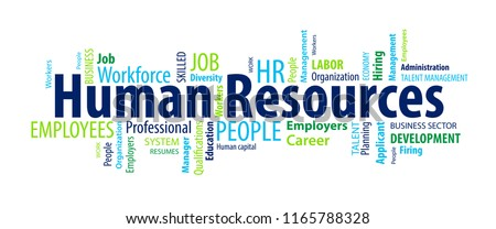 Human Resources Word Cloud Royalty-Free Stock Photo #1165788328