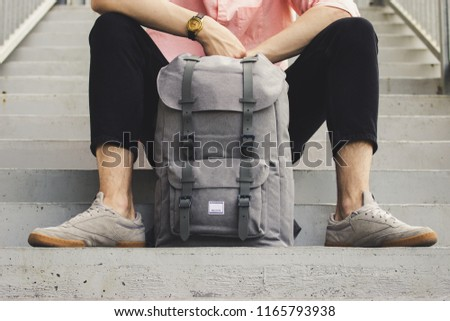 A modern and fashionable backpacks Royalty-Free Stock Photo #1165793938