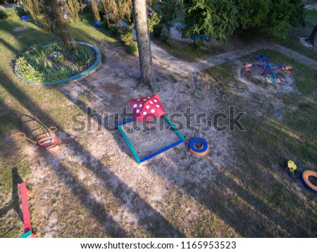 children playground,  view from above #1165953523